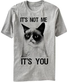 Grumpy Cat Not Me It's You Grey Mens T-Shirt XL Grumpy Cat http://www.amazon.com/dp/B00DRORFJ0/ref=cm_sw_r_pi_dp_NyzWtb1EK7V7WET1