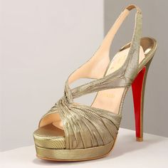 2011 Christian Louboutin Double-Platform Sandal Golden (I have some shoes that look almost exactly like this, not not C.LB)