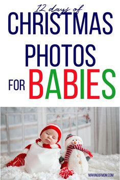 Baby's First Christmas Photo Ideas They say the days are long and the years are fast. Can you believe it's nearly baby's first Christmas already? First Christmas Photos, Babies First Christmas, 12 Days Of Christmas, Holiday Photos, Christmas Pictures, Christmas Things, Christmas Recipes, Christmas Ideas, Christmas Crafts