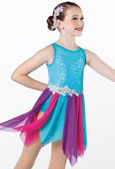 Weissman® Lyrical Costumes, Customer Number, Mesh Skirt, Floral Hair, Dance Dresses, Elegant Dresses, Leotards, Perfect Fit, Sequins