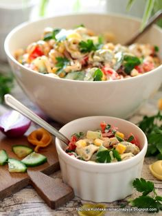 salatka_tortellini Tortellini, Prosciutto, Pasta Salad, Potato Salad, Grilling, Potatoes, Lunch, Ethnic Recipes, Food