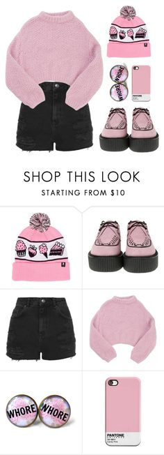 """""""Cupcake goth"""" by gangsterwizard ❤ liked on Polyvore featuring T.U.K., Topshop and Lala Berlin"""