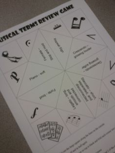♫ We ❤ Music @ HSES! ♫: Musical Terms Fortune Teller