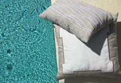 SOHIL I Embroidered pillows 'Classic' and 'Surf' from our Limited Edition Outdoor collection I  www.sohildesign.com