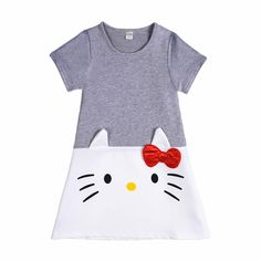 207ea2b9c79df5 Lovely Hello Kitty Baby Girl Dress Cotton Dresses for Kids Girls Spring  Summer Clothes Wear Children Clothing 2017 Sale