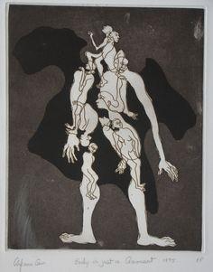 Arpana Caur/ Body is Just a Garment/ Etching/ 24 x 31 cm