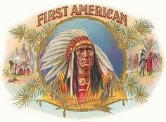 free vintage clip art First American brand cigars Native American Indian