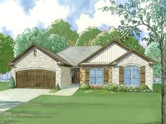 ePlans+European+House+Plan+–+French+Country+Ranch+With+Impressive+Kitchen+–+1745+Square+Feet+and+3+Bedrooms+from+ePlans+–+House+Plan+Code+HWEPL78189
