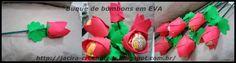 Minhas artes: Buquê de bombons em EVA