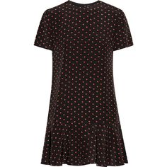 Saint Laurent Printed silk crepe de chine mini dress (92.455 RUB) ❤ liked on Polyvore featuring dresses, chine, crepe, de, laurent, silk short dress, silk mini dress, short cocktail dresses, short dresses and silk evening dresses