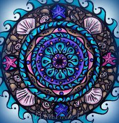 Ocean Mandala   by White Violet Art