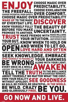 Go Now And Live Poster met motivational quotes. Bestel 'm op merchandisehouse.nl!