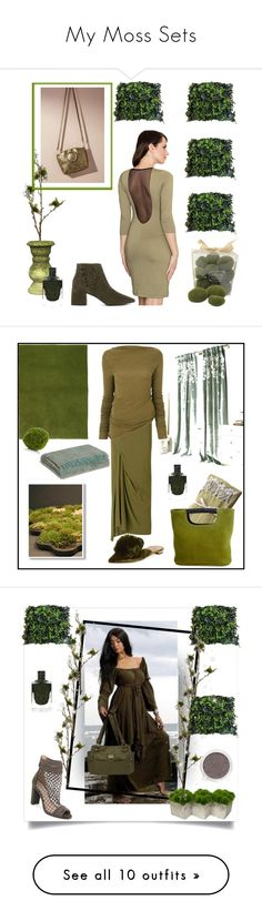 """""""My Moss Sets"""" by greensparkle1 on Polyvore featuring mode, LENITIF, Senso, Anthropologie, Wyld Home, Gold Eagle, Rick Owens, Aquazzura, Society et Therapy"""