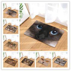 40*60cm Lovely Cats Pattern Anti-Slip Carpet Door mat doormat Outdoor Kitchen Living room Floor Mat Rug Rectangular Mats