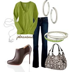 Green & Brown by jklmnodavis on Polyvore