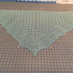 Aleda KAL: Blocking Your Lace — KW Blog - Knit A Long Progress