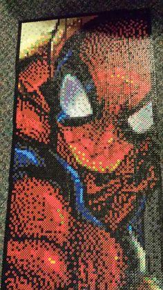 Spiderman perler beads by Spevial101