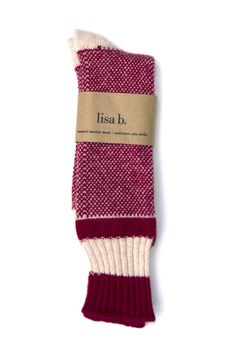 lisa b. Birds Eye Wool Sock for Women