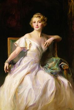 Philip Alexius de László, The White Dress: a Portrait of Joan Clarkson, 1935
