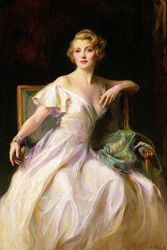 Philip Alexius de László, The White Dress: a Portrait of Joan Clarkson, 1935