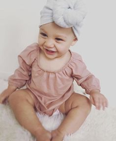 • M U S K • Our cheeky muse miss Ayla Roux in our Gigi Smock in musk & our Doux Turban in light grey marle • • • #baby #melbournemum #babystyle #babylove #babyshower #cute #mum #melbournebaby #etsy #love #turban #accessorires #bloomers #tiny #photography #babyphotos #toddler #romper #handmade #ministylekids #mum #mummaknowswest #mumlife #Sydney #lace #topknot #white #kidsstyle #kidsfashion #photooftheday #babyspam