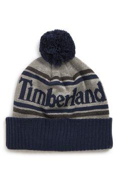 fd28a48f91099 TIMBERLAND CUFFED POM BEANIE - BLUE.  timberland. ModeSens Men