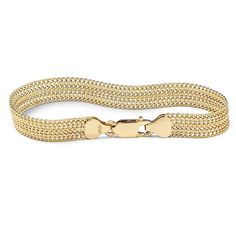 18k Yellow Gold over .925 Sterling Silver Mesh Bracelet 7.25' >>> You can get more details by clicking on the image.