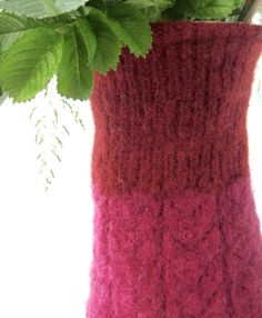 Recycle your empty plastic bottles with a beautiful felt knitted soft cover