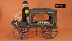Home Accents Holiday 5 ft. Animated LED Haunted Hearse with Skeleton-2031-60066 - The Home Depot