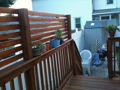 deck extension for shade/privacy