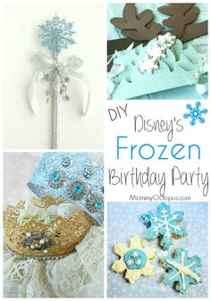 Disney's Frozen Party Ideas DIY - Or just for a fun summer afternoon with friends.