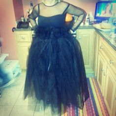 Black witch tulle skirt