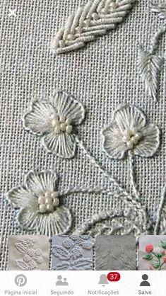 Zardozi Embroidery, Cute Embroidery, Beaded Embroidery, Cross Stitch Embroidery, Embroidery Patterns, Brazilian Embroidery, Textile Artists, Needlework, Textiles
