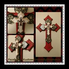 Red Distressed Wall Cross