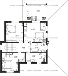 Поэтажные планы проект дома 83-06 общ. площадь 176,45 м2