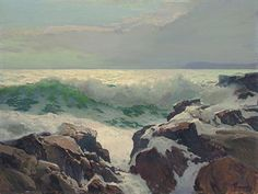 'Green Wave', by Frederick Waugh. One of the best seascape painters.