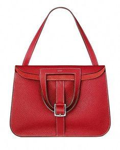 c5810cd27d8a Hermes - Halzan red leather handbag.  Hermeshandbags  redleatherhandbags