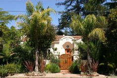 Artscapes: Redwood City Landscape Designer Spanish Colonial Homes, Spanish House, City Landscape, Landscape Design, Entry Gates, Spanish Revival, Fence, Backyard, Google Search