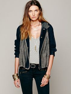 Free People Hooded Swing Jacket at Free People Clothing Boutique