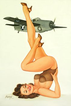 WWII era fly-girl pin-up by Baron Von Lind