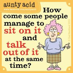LOL with Aunty Acid, the British Maxine