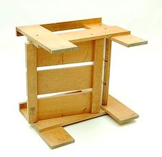 Botterweg Auctions Amsterdam U003e Pine Wood So Called Crate Chair, Design  Gerrit Rietveld