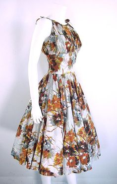 1950s vintage Anne Fogarty sun dress