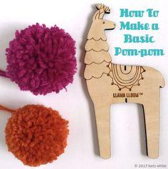 88c14c5d28f50b betz white pompom tutorial Pom Pom Maker