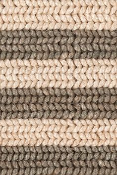 Belted Stripe handwoven abaca rug in Dove colorway, by Merida.