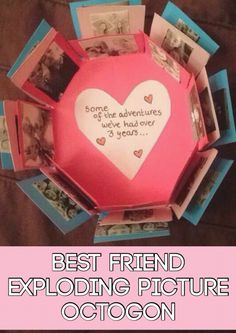 Homemade Photo octagon for Best friends #bestfriends #gifts #carepackage #best #friends #gift #present #homemade #handmade #crafts #memories #cute #creative
