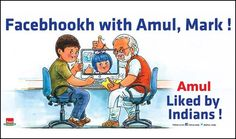 View Amul Facebhookh With Amul Mark Liked By Indians Advertisement newspaper. This Ad is collection of Sample Ad at Advert Gallery. Advertising, Ads, Slogan, Nostalgia, The Incredibles, Utterly Butterly, Marketing, Digital India, Memes