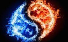 Fire And Ice Wallpaper, Look Wallpaper, Yin Yang, Jing Y Jang, Reiki Angelico, Twin Flame Runner, Llama Violeta, Twin Flame Relationship, Twin Flame Love