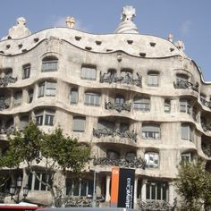 """La Pedrera ( Casa Mila ): Architect: Antoni Gaudi y Cornet Location : Barcelona, Spain Built : 1908-1912  The exterior of Casa Mila ( commonly referred to as La Pedrera ) presents undulating balconies that look like a series of waves. The iron-wrought balconies were designed by Josep Maria Jujol, who improvised them on the spot. Some people see the facade as a cliff-like rock with caves. During its' construction, people dubbed it a quarry, or """"Pedrera"""" and to date, people still call the…"""