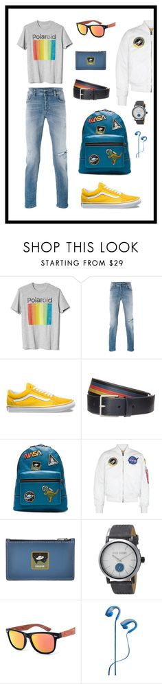 """Men's Fashion #1"" by curlyelizabeth ❤ liked on Polyvore featuring Gap, Diesel, Vans, Paul Smith, Coach 1941, Alpha Industries, Coach, Steve Madden, Polaroid and men's fashion"